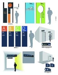 时尚学校导示系统标识模板