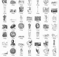 拓印图合辑—古代欧洲男士美女和骑士