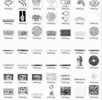 拓印图合辑—精美的杯子和鸟类以及装饰图案