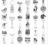 拓印图合辑—欧洲古代骑士和盔甲以及兵器