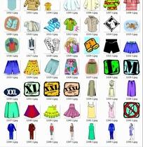插画服装合辑—漂亮的上衣和下装