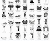 古代物品表面装饰图案拓印图图片