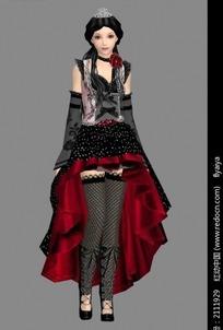 哥特式服装美女