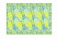 蓝色背景重复方形图案