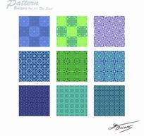 菱形方形花纹图案