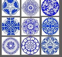 青花瓷花纹花瓣底纹图案
