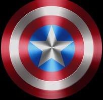 美国队长盾牌矢量图_美国队长盾牌设计图__PSD分层素材_PSD分层