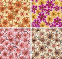 艺术背景底纹 四款温馨浪漫的小花朵底纹