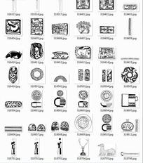 中国古典图案合辑-刀瓷器等图案