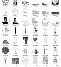 中国古典图案合辑-刀斧头等图案
