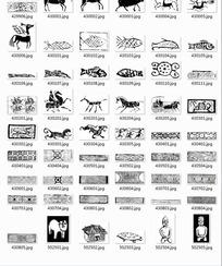 中国古典图案合辑-房屋古代人物等图案