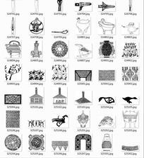 中国古典图案合辑-飞鸟瓷器等图案