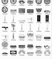 中国古典图案合辑-剑刀瓷器等图案