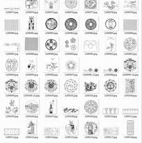 中国古典图案合辑-铜钱中国结仙桃等图案