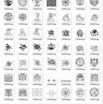 中国古典图案合辑-鱼中国结田螺等图案