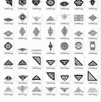 中国古典图案合辑-中国结边角装饰纹等图案