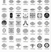 中国古典图案合辑-中国结勾边等图案
