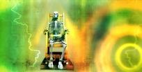 万圣节视频 闪电电椅上的骷髅