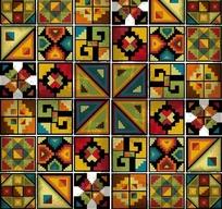 三角形菱形方形底纹图案