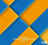 橙蓝条形底纹图案