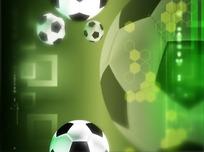 视频短片 屏幕慢动作落下的一片足球