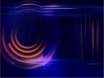 视频短片 旋转的紫红色暗光圆环背景