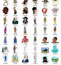 插画—黑人头像戴帽子的外国人美女头像合辑