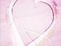 情人节视频 粉红的红心和飘落的爱心