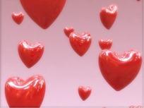 情人节视频 上升的一片立体红心