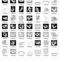 中国古典图案合辑-各种各样的嫦娥等图案