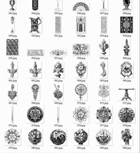 中国古典图案合辑-花朵酒杯植物花纹等图案