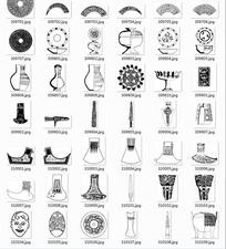 中国古典图案合辑-花瓶斧头等图案