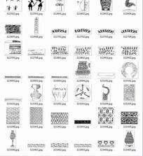 中国古典图案合辑-花瓶古代人物等图案