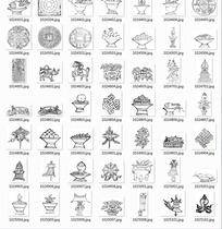 中国古典图案合辑-莲花马大象托盘等图案