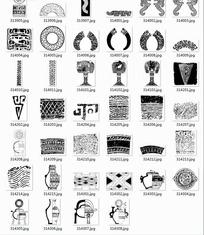 中国古典图案合辑-青铜器鼎等图案