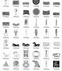 中国古典图案合辑-匕首动物等图案