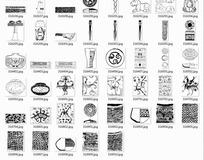 中国古典图案合辑-匕首花瓶青铜器等图