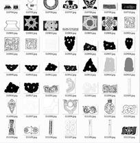 中国古典图案合辑-匕首青铜器等图案
