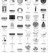 中国古典图案合辑-匕首羊等图案