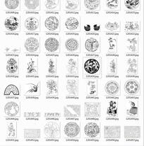 中国古典图案合辑-水仙花葫芦花团等图案