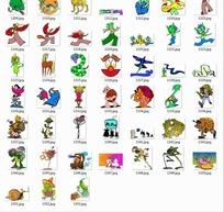 卡通动物合辑--龙蛇马等