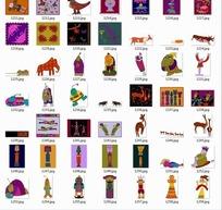 卡通动物合辑--鹿大象山羊等
