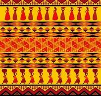 少数民族菱形编织图案