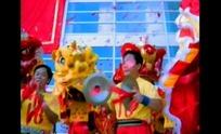 视频—正在表演的舞狮队队员