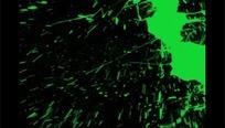 油漆喷墨视频 绿色喷溅的颜料喷绘