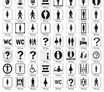 公共场所导视标识图标