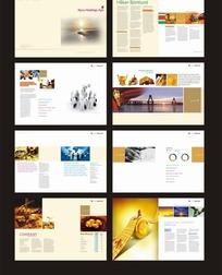 画册设计—体现落日和海边美景的画册