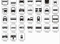 各个方向的公交车