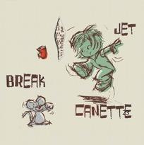 矢量卡通插画-老鼠和踩滑板的小男孩