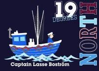 蓝色小船和水手